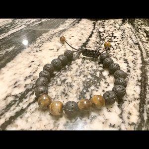 NWOT-Tiger's Eye Diffuser Bracelet